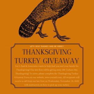 Orange Turkey Thanksgiving Invitation